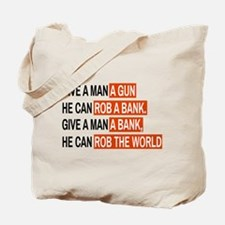 Banks Rob The World Tote Bag