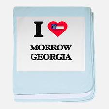 I love Morrow Georgia baby blanket