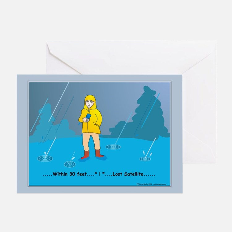 Rain Geocacher Greeting Card