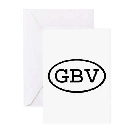 GBV Oval Greeting Cards (Pk of 10)