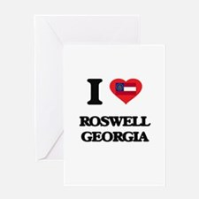I love Roswell Georgia Greeting Cards