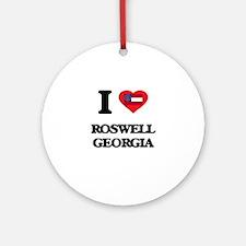 I love Roswell Georgia Ornament (Round)