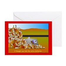 GPS Dead Battery Greeting Card