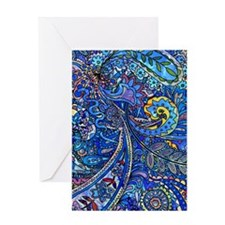 Wild Paisley Greeting Cards