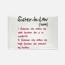 Sister-in-law Rectangle Magnet