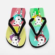 Dog Pop Art Warholesque Flip Flops