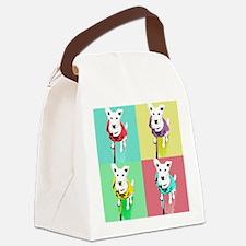 Dog Pop Art Warholesque Canvas Lunch Bag