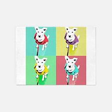 Dog Pop Art Warholesque 5'x7'Area Rug