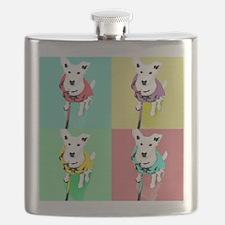 Dog Pop Art Warholesque Flask