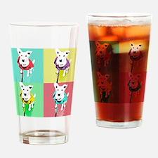 Dog Pop Art Warholesque Drinking Glass