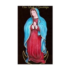 Our Lady of Guadalupe Rectangle Decal