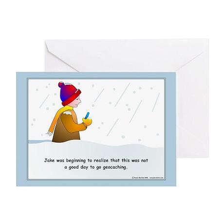 Snow Geocaching Greeting Card