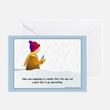Snow Geocaching Greeting Card