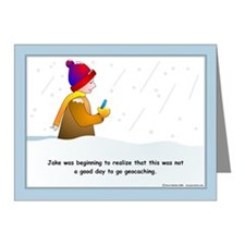Snow Geocaching Note Cards (Pk of 20)