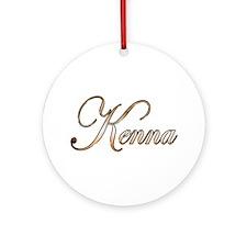 Gold Kenna Round Ornament