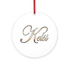 Gold Kelsi Round Ornament