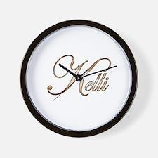 Gold Kelli Wall Clock