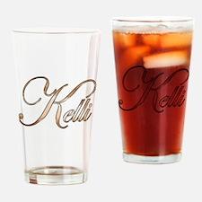 Gold Kelli Drinking Glass