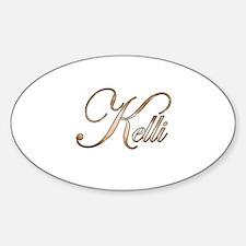 Gold Kelli Decal