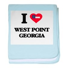 I love West Point Georgia baby blanket