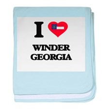 I love Winder Georgia baby blanket