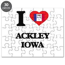 I love Ackley Iowa Puzzle