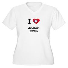I love Akron Iowa Plus Size T-Shirt