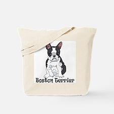 Boston Terrier Pup Tote Bag