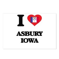 I love Asbury Iowa Postcards (Package of 8)