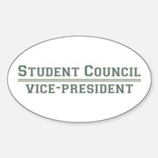 Student Council - Vice-President Oval Decal