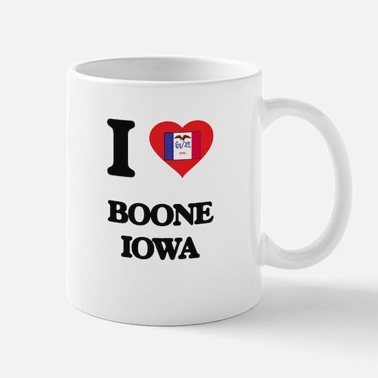 I love Boone Iowa Mugs