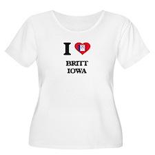 I love Britt Iowa Plus Size T-Shirt