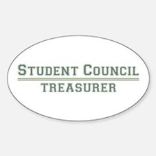 Student Council - Treasurer Oval Decal