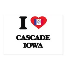 I love Cascade Iowa Postcards (Package of 8)