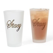 Gold Stacy Drinking Glass