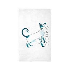 Siamese cat Area Rug
