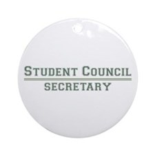 Student Council - Secretary Ornament (Round)
