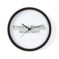 Student Council - Secretary Wall Clock