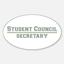 Student Council - Secretary Oval Decal