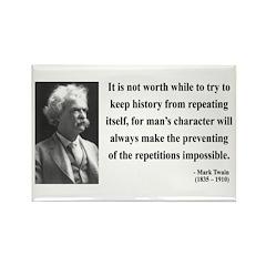 Mark Twain 8 Rectangle Magnet (10 pack)