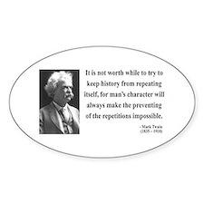 Mark Twain 8 Oval Decal