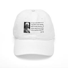 Mark Twain 8 Baseball Cap