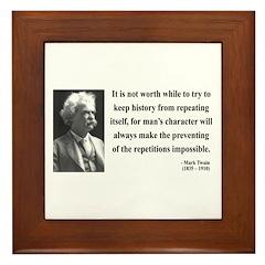 Mark Twain 8 Framed Tile