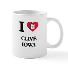 I love Clive Iowa Mugs
