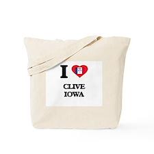 I love Clive Iowa Tote Bag