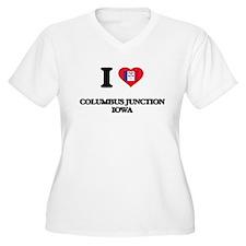 I love Columbus Junction Iowa Plus Size T-Shirt
