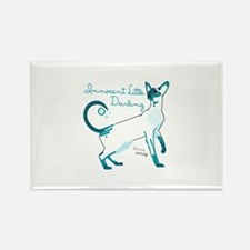 Siamese innocent little darlings cat Magnets