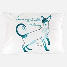 Siamese innocent little darlings cat Pillow Case