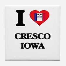 I love Cresco Iowa Tile Coaster
