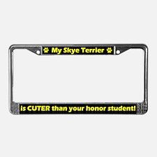 Honor Student Skye Terrier License Plate Frame